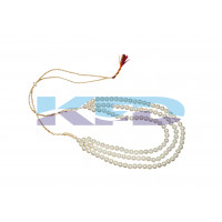 Pearl Mala 3 Line White color For Mythological Character/Janmashtami/Dussehra/Diwali/School annual function