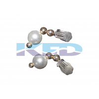 Pearl Earing White For Mythological Character/Janmashtami/Dussehra/Diwali/School annual function