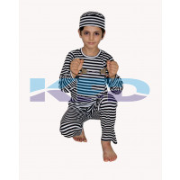 Prisoner Costume For School Annual function/Theme Party/Competition/Stage Shows/Birthday Party Dress