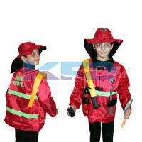 FireFighter/Fireman Costume Our Helper Costume For School Annual function/Theme Party/Competition/Stage Shows Dress
