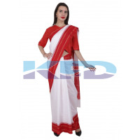 White Saree Free Size