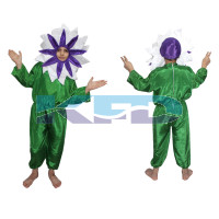 White flower Costume ,Nature Costume for School Annual function/Theme Party/Stage Shows/Competition/Birthday Party Dress