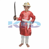 Tipu Sultan Red Costume For Kids,Indian Historical Character Costume For School Annual function/Theme Party/Stage Shows/Competition/Birthday Party Dress