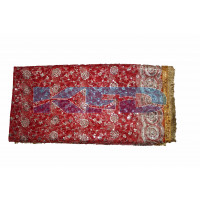 Mata Ki Chunari Full Size 2.25 Meter /Navratri Chunni/Devi Mata Full Jari Chunari/Chunar/Mata chunri/Durga Devi Chunni With Golden Embroidery And Lace,Used For Various Hindu Puja