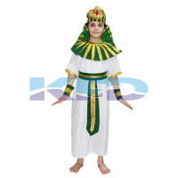 Egyptian God Green/Greek God Costume Of International Traditional Wear For Kids School Annual function/Theme Party/Competition/Stage Shows/Birthday Party Dress