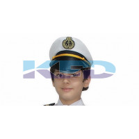 Pilot Cap/Airline Pilot Hat/Aviation Captain Hat/Pilot Cap Accessories/School Annual function/Theme Party/Competition/Stage Shows/Birthday Party Dress