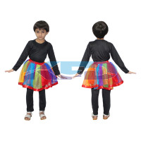 Rainbow Tu Tu Skirt/Summer Fluffy/Tulle Skirt For kids/Tutus Dancing Pettiskirt/Fancy Dress competitions/School Annual functions/ Birthday B'day Parties