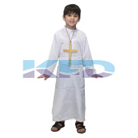 White Priest/Jesus,Catholic Costume For Kids Annual function/Theme Party/Competition/Stage Shows/Birthday Party Dress