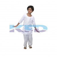 White Salwar Kameez Costume of Indian State Traditional Wear For Kids School Annual function/Theme Party/competition/Stage Shows/Birthday Party Dress