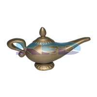 Aladdin Lamp Cosplay Halloween Props For Kids/Aladdin Chirag/Outgeek Genie Lamp/Decorative God Vintage Aladdin Lamp/Aladdin Costume Accessory/For Kids Annual function/Theme Party/Competition/Stage Shows/Birthday Party Dress