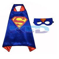 Superman Robe For Kids/California Costume For kids/Superhero Robe For kids/For Kids Annual function/Theme Party/Competition/Stage Shows/Birthday Party Dress