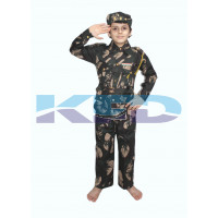 Indian Military Fancy Dress For Kids,Our Helper/National Hero Costume For Annual Function/Theme Party/Stage Shows/Competition Dress