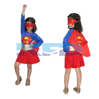 Super Girl fancy dress for kids,Super Hero Costume for Annual function/theme Party/Competition/Stage Shows/Birthday Party Dress