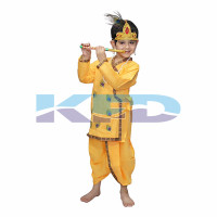Krishna Pankh In Cotton Fabric,Krishnaleela/Janmashtami/Kanha/Mythological Character For Kids School Annual functionTtheme Party/Competition/Stage Shows Dress