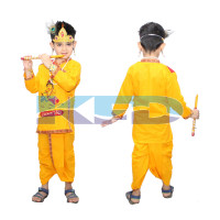 Maakhan Chor Without Jewellery fancy dress for kids,Krishnaleela/Janmashtami/Kanha/Mythological Character for Annual functionTtheme Party/Competition/Stage Shows Dress