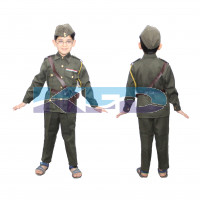 Subhash Chandar Bose National Hero/freedom figter Costume For Kids independence Day/Republic Day/Annual function/Theme party/Competition/Stage Shows Dress