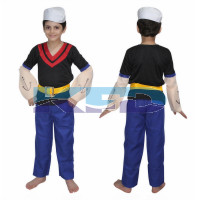 Popeye Fancy dress for kids,Disney Cartoon Costume for Annual function/Theme Party/Stage Shows/Competition/Birthday Party Dress