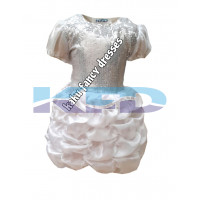 White LCD Frock