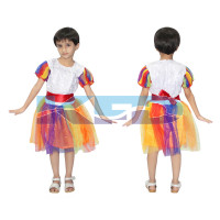 Rainbow Girl fancy dress for kids,Nature Costume for annual function/Theme Party/Stage Shows/Competition/Birthday Party Dress