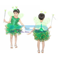 Tinkel Bell Fancy Dress/Fairy Tale Floral Costume/Halloween Cosrume For Kids/For Kids Annual function/Theme Party/Competition/Stage Shows/Birthday Party Dress