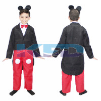 Mickey Mouse Boy Fancy dress for kids,Disney Cartoon Costume for Annual function/Theme party/Stage Shows/Competition/Birthday Party Dress