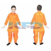 Orange Dhoti Kurta fancy dress for kids,Indian state Traditional Wear for Annual Function/Theme Party/Competition/Stage Shows/Birthday Party Dress