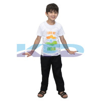 India T Shirt Costume For Kids/I love my india t-shirt/School Annual function/Theme Party/Competition/Stage Shows/Birthday Party Dress