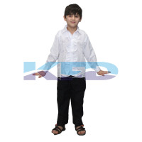 White frill Shirt fancy dress for kids,Western Costume for Annual function/Theme Party/Competition/Stage Shows/Birthday Party Dress laten dance/salsa dance