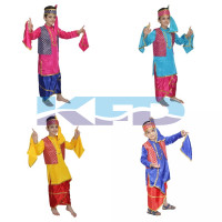 Punjabi Boy fancy dress for kids,Indian State Traditional Wear Costume for Annual function/Theme party/Competition/Stage Shows/Birthday Party Dress