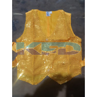 Waist Coat Yellow Fancy Dress